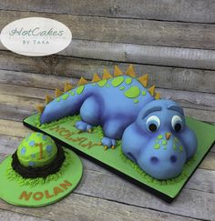 How to make a 3D Dinosaur Cake Part 4 of 5 Formatorta kszts