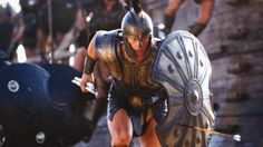 Brad Pitt depicting the famous warrior Achilles storming the beaches of Troy in the movie adaption of the Trojan War 'Troy' starring alongside Aussie Eric Banner. Troy Film, Troy Movie, Movie Scene, Troy Achilles, Achilles And Patroclus, Best Action Movies, Greek Warrior, Films Cinema, Trojan War