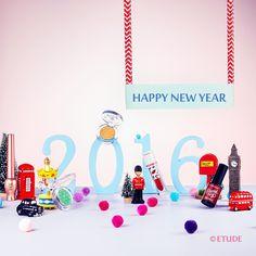 . Adieu 2015, Welcome 2016!  새해에도 행복하길! 변함없이 아름답길  #Happynewyear #Welcome2016 #etude #etudehouse #에뛰드 #에뛰드하우스 #에뛰드그램 #伊蒂之屋 #エチュードハウス
