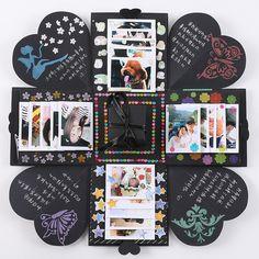 Explosion Box Memory Scrapbook Photo Album DIY Craft Kits Anniversary Gifts New - Diy Gift Ideas Pot Mason Diy, Mason Jar Crafts, Bottle Crafts, Love Box, Boite Explosive, Album Photo Scrapbooking, Diy Scrapbook, Handmade Scrapbook, Diy Gifts For Boyfriend