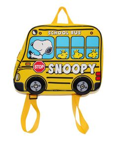 Another great find on #zulily! Peanuts 'Snoopy' Bus-Shaped Mini-Backpack #zulilyfinds