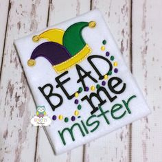 Bead Me Mister Mardi Gras shirt or bodysuit by GingerLyBoutique