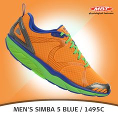 Men's Simba Blue / shoe from New MBT Collection The athletic shoes are mixture with synthetic leather & mesh uppers finished, with a mesh footbed. Runing Shoes, Raven, Athletic Shoes, Neutral, Mesh, Footwear, It Is Finished, Gray, Sneakers