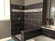 galaxy nero tile in a bathroom