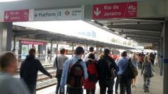 Stratford tube station signposts road to Rio | ITV News    Station plays on fact Olympics over in London...