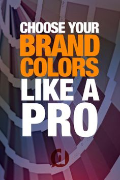 """Check out a really good read: """"Choose Your Brand Colors Like A Pro"""" http://dustn.tv/choose-your-brand-colors/"""