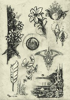 art nouveau designs | Motifs: Nature inspired flowers such as roses, violets, iris, and ...