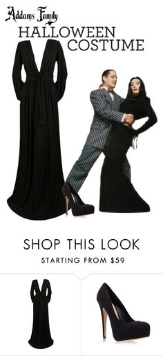 Morticia Addams Family Inspired Costume  by cloudybooks ? liked on Polyvore featuring Yves Saint.    sc 1 st  Pinterest & Lace Morticia Addams Family Halloween Costume | Renda fantasias de ...
