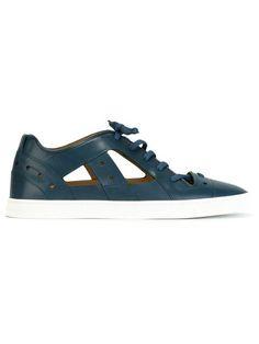 Shop Fendi cut-out panel sneakers.