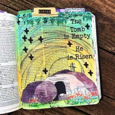 Empty Tomb Easter beautifulgoodnews bible journaling   Etsy Ester In The Bible, Bullet Journal Cover Ideas, Journal Ideas, Cute Bibles, Jesus Drawings, Empty Tomb, Bible Drawing, Bible Illustrations, Bible Text