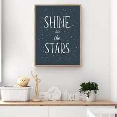 Modern black and white nursery art and nursery decor ideas from Sunny and Pretty. Create a beautiful space themed nursery for your baby boy with this very simple, modern space print. Nursery art and nursery prints to complete your nursery decor project. Our nursery wall art is made with love and is designed to reflect your nursery wall decor style. 🖤 Get excited about decorating for your little one! #sunnyandpretty Space Themed Nursery, Baby Boy Nursery Decor, Modern Nursery Decor, Star Nursery, White Nursery, Baby Room Decor, Nursery Themes, Nursery Prints, Nursery Wall Art
