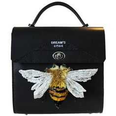 Luxury 3d Bee Embroidery Clutch Bag