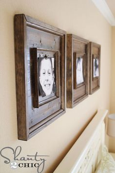 How to make a chunky picture frame...for a steal of deal! #diyframes