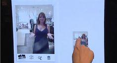 Magasin Morgan équipé d'une borne tactile photographique connectée à twitter