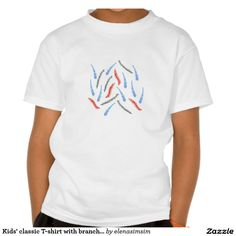 Kids' classic T-shirt with branches
