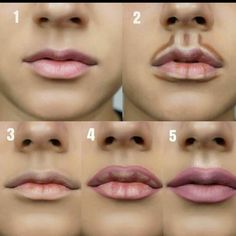 Step By Step Lips Makeup - - Step By Step Lips Makeup Beauty Makeup Hacks Ideas Wedding Makeup Looks for Women Makeup Tips Prom Makeup ideas Cut Natu. How To Do Contouring, Step By Step Contouring, Contouring Makeup, Makeup Step By Step, Skin Makeup, Beauty Makeup, Beauty Tips, Beauty Hacks, Makeup Style