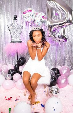 Birthday Photo Shoot- blowing confetti Happy Birth, Glam Girl, Birthday Photos, Confetti, Girl Birthday, Photo Shoot, Ideas, Style, Fashion