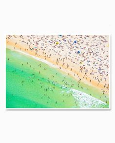 Bondi Mint - This is Summer Aerial Photography, Art Photography, Days Of The Year, Raw Wood, Bespoke, Tube, Delivery, Mint, Framed Prints