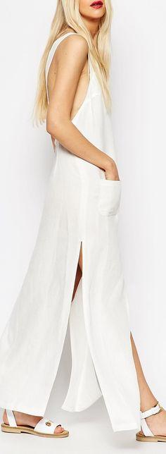 maxi pinafore dress