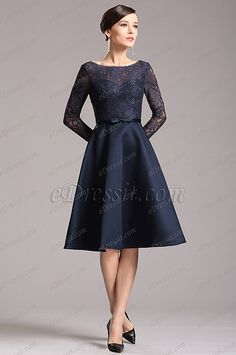 Gorgeous Navy Blue Long Sleeves Party Dress Cocktail Dress (X04151805) list price: $139.99 sale price: $90.99