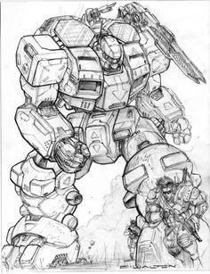 RIFTS NG-SE48 Sunfire Robot Vehicle and Juicer by ChuckWalton.deviantart.com on @DeviantArt