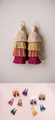 Tassel earrings aren't just for summer! Check out this pair, in perfect-for-fall colors, and all our other tassel jewelry color options! Tassel Jewelry, Fall Jewelry, Tassel Earrings, Bridesmaid Jewelry, Bridesmaid Gifts, Winter Wardrobe Essentials, Layered Jewelry, Bridal Earrings, Custom Jewelry