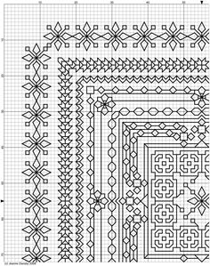 OK - Snowflake Challenge Motifs Blackwork, Blackwork Cross Stitch, Blackwork Embroidery, Cross Stitch Borders, Modern Cross Stitch, Diy Embroidery, Cross Stitch Charts, Cross Stitch Designs, Cross Stitching