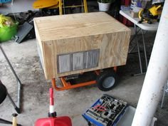 Make a Rain Proof Portable Generator Housing : 6 Steps (with Pictures) - Instructables Diy Generator, Emergency Generator, Portable Generator, Power Generator, Silent Generator, Emergency Power, Emergency Preparation, Sump Pump, Home Improvement Loans