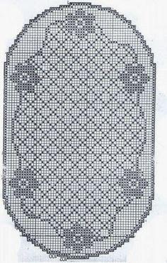 Mantel de ganchillo con esquema                                                                                                                                                     Más