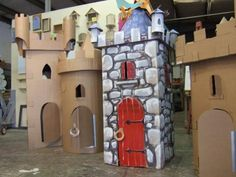 Cardboard Castle Fort #Kingdom #Rock #VBS