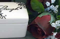 Ceramic Laugh Keepsake Box Laugh by GrapeVineCeramicsGft on Etsy, $15.00