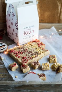 Sea salted fudge recipe - will be making some of this for my home made Christmas hampers!