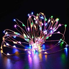 Fairy String LightsSpevert 5M165ft RGB Waterproof Battery Operated String Light Ultra Thin String Silver WireDecor Rope Lights For Christmas Wedding Parties ** Check out the image by visiting the link.