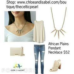Today's Featured Product: African Plains Pendant Necklace $52 Shop: https://www.chloeandisabel.com/boutique/thecelticpearl/products/E465BEAG/wild-earth-convertible-statement-earrings  #love #daily #Featured #product #Fall #Africa #Safari #Inspired #Necklace #semiprecious #marbled #cream #stone #ivory #clear #crystal #pavé #jewelry #fashion #accessories #style #shopping #shop #trendy #trending #trend #trends #boutique #chloeandisabel #thecelticpearl #lifetimeguarantee #online #buy