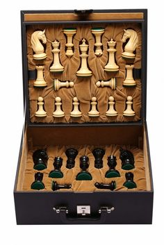 "CB Blackburne (Joseph Henry) Edition Chess Set in Ebony & Box Wood - 4.6"" King with Free Storage Box"