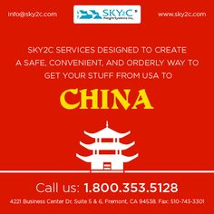 Shipping household goods from USA to China ! Contact Sky2c Freight Systems.