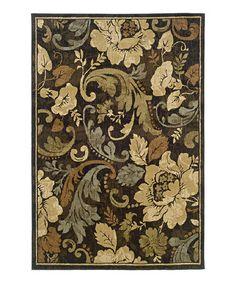 Brown Floral Elegance Newport Rug #zulily #zulilyfinds