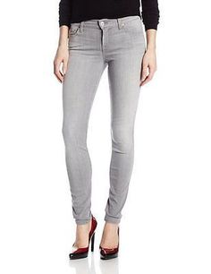 7 FOR ALL MANKIND silver grey SLIM CIGARETTE stretch women's jeans SIZE 31,32