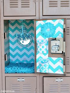 glam up your locker with llz by lockerlookz club chica circle where crafty is - How To Decorate Your Locker