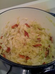 paleo cabbage used the bacon grease instead of the olive oil! Definitely a keeper! Paleo Recipes, Low Carb Recipes, Great Recipes, Cooking Recipes, Favorite Recipes, Cabbage And Bacon, Cabbage Recipes, Paleo Side Dishes, Vegetable Dishes