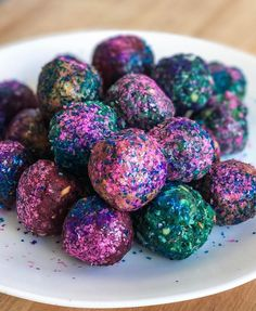 These Shimmering Unicorn Protein Balls Are Gonna Make Your Sweat Sparkle