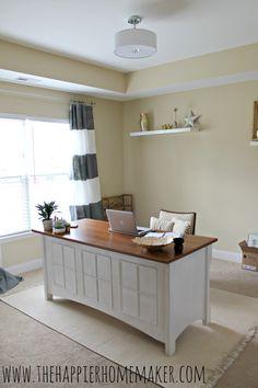 Glam yet neutral Regency inspired home office