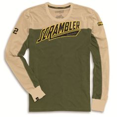 Scrambler Track Star Long Sleeve Tee 98769175 $59.95 Ducati Scrambler, Scrambler Motorcycle, Motorcycle Gear, Motos Vintage, Aesthetic T Shirts, Blue Boat, Tee Design, Long Sleeve Tees, Men's Fashion Styles