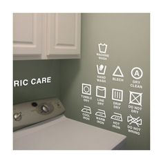 Fabric Care Laudry Sign Modern DIY Vinyl Wall Art par WallSpurArt, $20.99