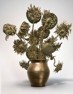 Van Gogh's 2D Sunflowers transformed into 3D with 3D printer
