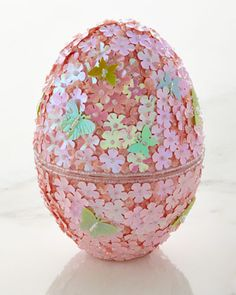 Beaded Easter Egg with Chocolates by Godiva Chocolatier at Neiman Marcus.