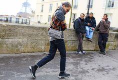 Caroline Brasch Nielsen - Chanel bag and Nike shoes