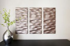 metal 3D wall art panels, textured wall panel design