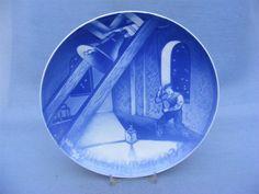 COPENHAGEN DENMARK BING & GRONDAHL PORCELAIN CHRISTMAS PLATE 1934