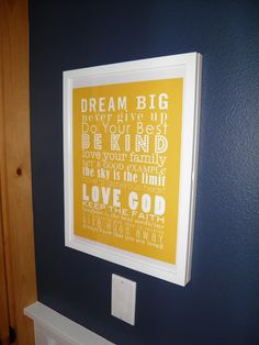 Big Boy Room Wall Art